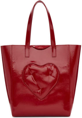 Anya Hindmarch Red Chubby Heart Tote