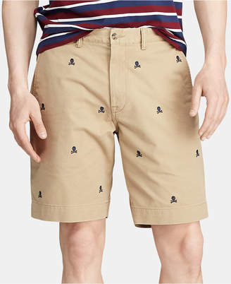 """Polo Ralph Lauren Men 9.25"""" Classic Fit Embroidered Stretch Shorts"""