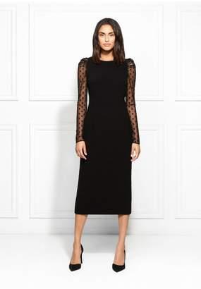 Rachel Zoe Harper Stretch Crepe Midi Dress