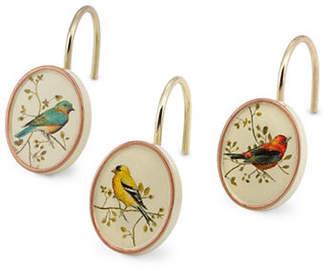 Avanti 12-Piece Gilded Birds Shower Hooks