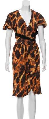 Just Cavalli Wrap Printed Dress