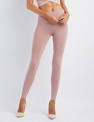 High-Waisted Stretch Cotton Leggings $10.99 thestylecure.com