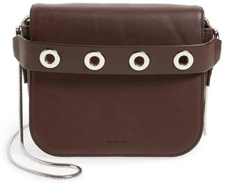 Allsaints 'Ikuya' Leather Clutch - Purple $198 thestylecure.com