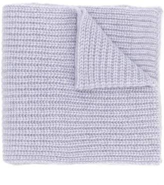 Closed ribbed knit scarf