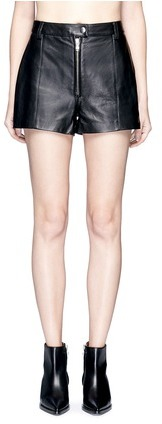 3.1 Phillip Lim3.1 Phillip Lim Zip front lambskin leather shorts