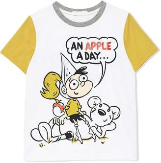Burberry Cartoon Print Cotton T-shirt