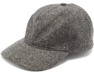 A.P.C. Aaron Wool Tweed Baseball Hat - Mens - Grey