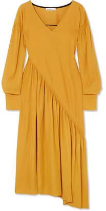 ADEAM Asymmetric Cady Dress - Gold