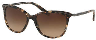 Ralph Lauren RALPH BY EYEWEAR Essential 54mm Extended Temple Inlayed Cat-Eye Sunglasses