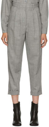 MM6 MAISON MARGIELA Grey Wool Casual Tailoring Trousers