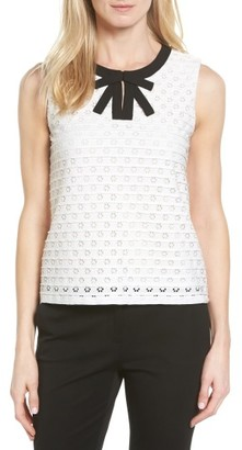 Women's Cece Bow Front Jacquard Knit Top $79 thestylecure.com