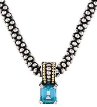 Lagos Topaz Caviar Glacier Pendant Necklace