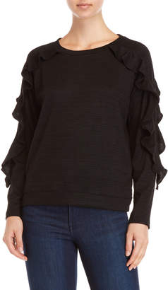 August Silk Ruffle Raglan Sleeve Sweater