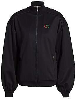 Gucci Women's Elbow-Pad Technical Jersey Zip Jacket