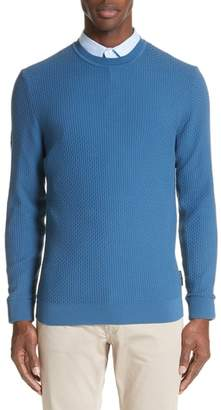 Emporio Armani Slim Fit Textured Crew Sweater