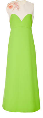 DELPOZO Bicolor Midi Dress