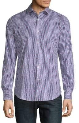 Cherry-Print Button-Down Shirt