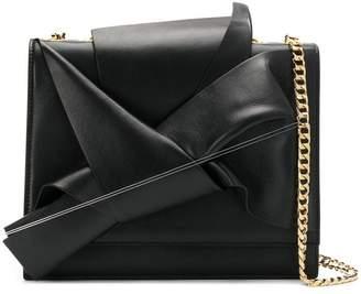 No.21 abstract bow shoulder bag
