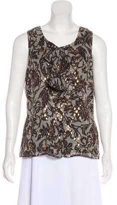 Couture St. John Silk-Blend Sleeveless Top