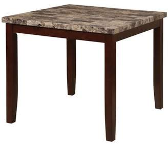 Homesource Home Source Counter Height Faux Marble Table