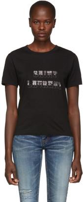 Saint Laurent Black Western Logo T-Shirt