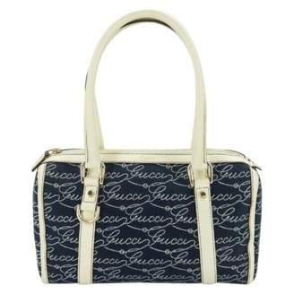Gucci Boston Blue Cloth Handbags