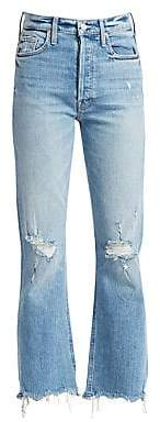 Mother Women's Tripper High-Rise Ankle Straight Jeans