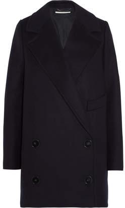 Stella McCartney Edith Double-breasted Wool-blend Felt Coat - Midnight blue