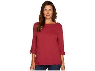 Jag Jeans Wren Tee with Crochet Lace Back in Slub Jersey Women's T Shirt