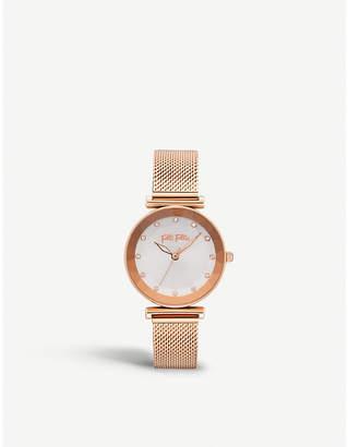 Folli Follie Star Flower rose gold-plated watch