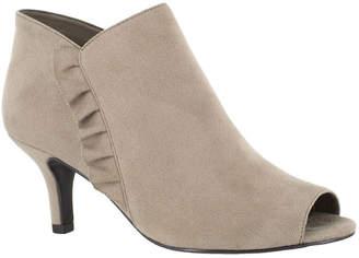 Easy Street Shoes Womens Georgia Shooties Zip Open Toe