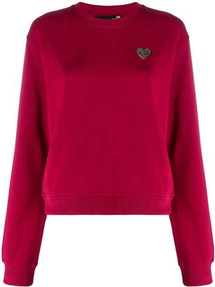 Love Moschino Heart plaque sweatshirt