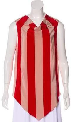 Juan Carlos Obando Striped Sleeveless Top