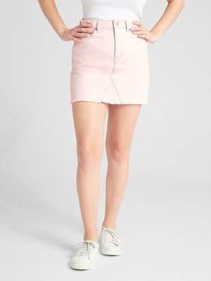 Gap High Rise Color Denim Mini Skirt