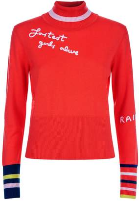 Mira Mikati Embroidered Turtleneck Sweater