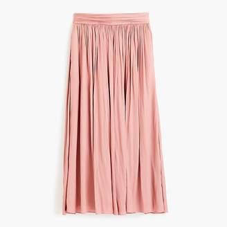 J.Crew Petite Point Sur crinkled maxi skirt