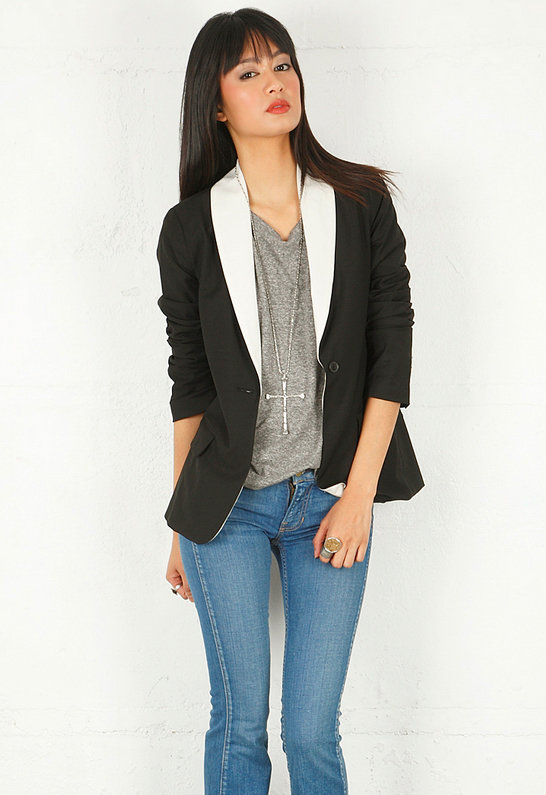 New Sammi Blazer in Black/Ecru - by Elizabeth and James