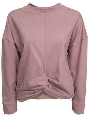 Bassike Front Knotted Cotton Sweatshirt