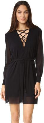 Fuzzi Laced V Neck Dress $395 thestylecure.com