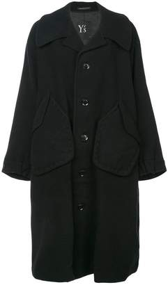 Y's single breasted midi coat
