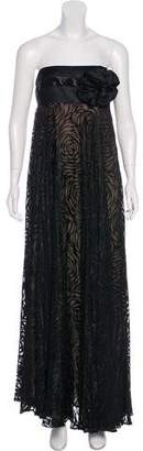 Marchesa Strapless Maxi Dress