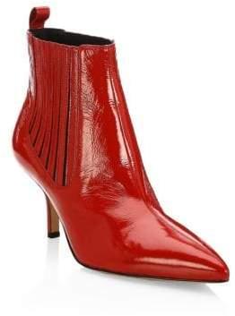 Diane von Furstenberg Mollo Patent Leather Ankle Boots