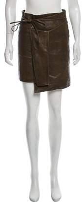 Isabel Marant Asymmetrical Leather Skirt