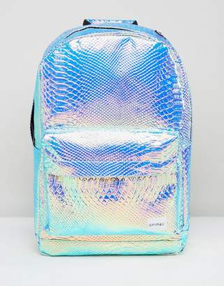 Spiral Textured Holographic Backpack