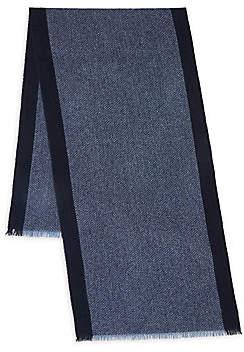 John Varvatos Men's Wool Fringe Scarf