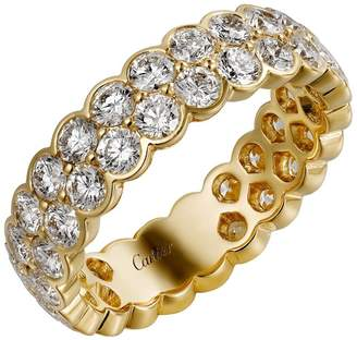Cartier Yellow Gold and Diamond Broderie de Double Wedding Band