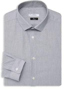 Versace Striped Cotton Dress Shirt