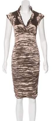 Nicole Miller V-Neck Metallic Dress
