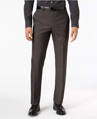 Sean John Men's Slim-Fit Stretch Black/White Neat Suit Pants