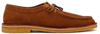 Saint Laurent Nino Suede Derby Shoes - Mens - Brown